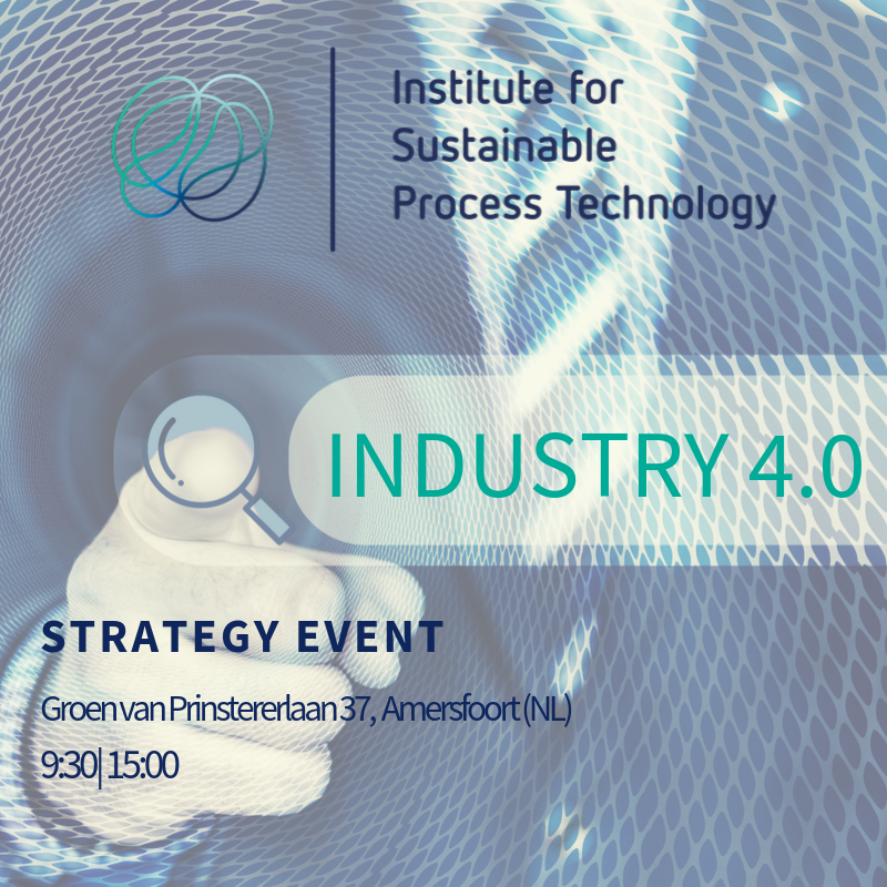 Industry 4.0 Open Strategy Event - Event information with person in the background